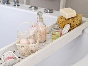 Badkamer accessoires voor het bad
