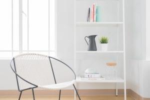 Draadstoel met touw