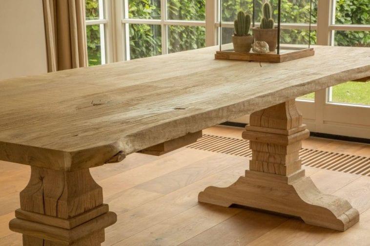 Eiken tafel onderhouden