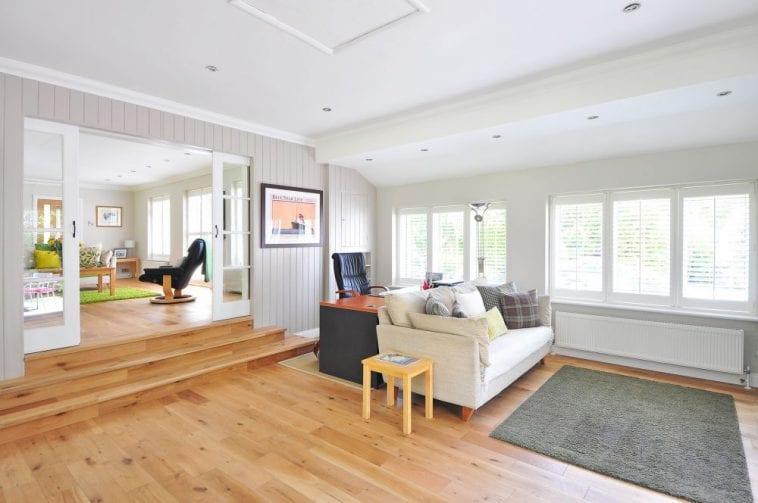 Eikenhouten vloer in woonkamer