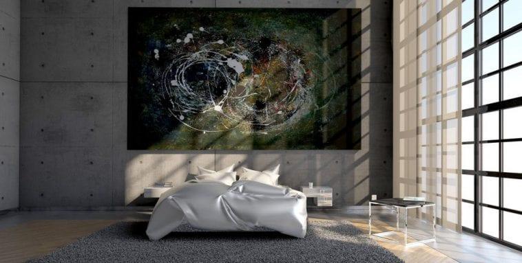 Muurdecoratie in de slaapkamer