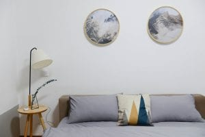 Ronde muurdecoratie slaapkamer